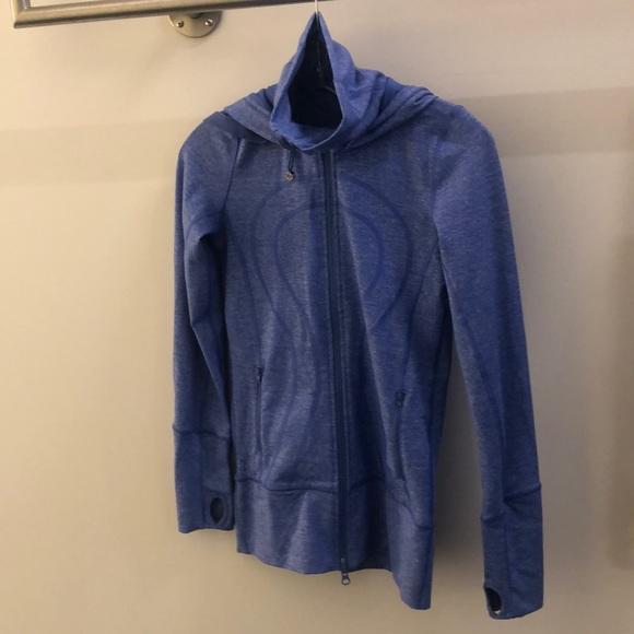 lululemon athletica Jackets & Blazers - Lululemon blue jacket, sz 2, 68773